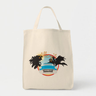 Alley's Classic Cars Grocery Tote Bag