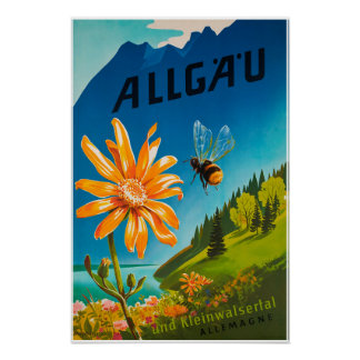 Allgau, Bavaria, Germany, Travel Poster