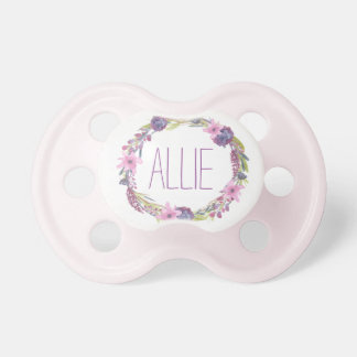 """""""Allie"""" Simple & Elegant Personalized Name Pacifiers"""