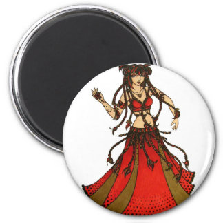 Alliecat Tribal belly Dancer 6 Cm Round Magnet