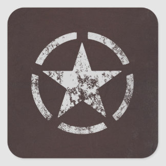 Allied US White Star Vintage Square Sticker