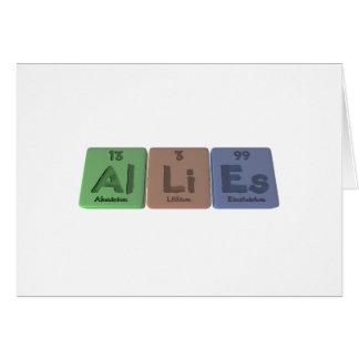 Allies-Al-Li-Es-Aluminium-Lithium-Einsteinium Card