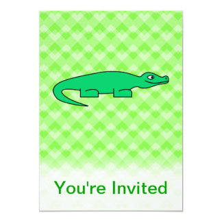 Alligator. 13 Cm X 18 Cm Invitation Card