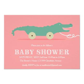 "Alligator Baby Shower Invitation 5"" X 7"" Invitation Card"