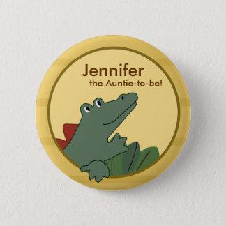 Alligator Baby Shower or Birthday Personalized 6 Cm Round Badge