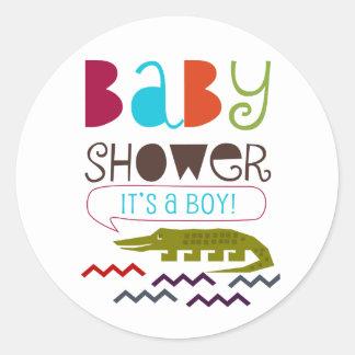 Alligator Baby Shower Stickers