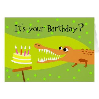 Alligator Birthday Greeting Card
