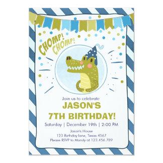 Alligator birthday invitation Alligator party Boy
