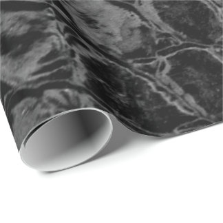 Alligator Black Faux Leather Wrapping Paper