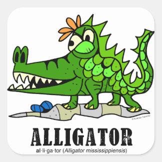 Alligator by Lorenzo © 2018 Lorenzo Traverso Square Sticker