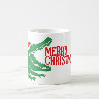 Alligator christmas mug