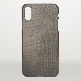 Alligator Classic Reptile Leather (Faux) iPhone X Case