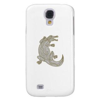 Alligator Climbing Up Mono Line Galaxy S4 Covers