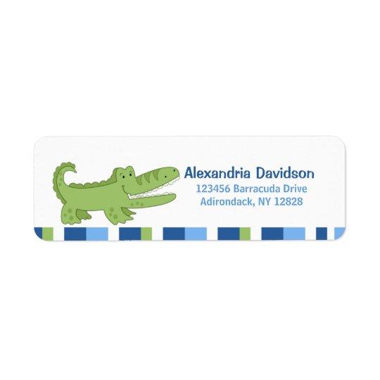 Alligator Custom Address Labels - Green/Blue