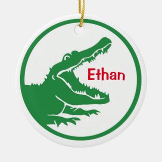 Alligator custom christmas ornament