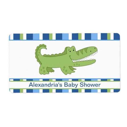 Alligator Customised Large Water Bottle Sticker