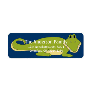 Alligator d4 Animal Return Address Labels