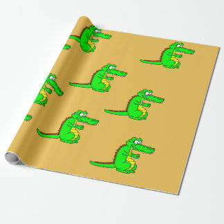 Alligator design wrapping paper