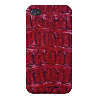 Alligator Designer iPhone 4/4S Skin (burgundy) Covers For iPhone 4