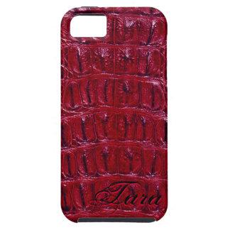 Alligator Designer iPhone 5 Skin (burgundy) Tough iPhone 5 Case