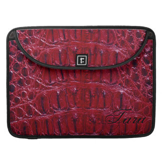 "Alligator Designer MacBook 15"" Sleeve (burgundy) Sleeves For MacBooks"