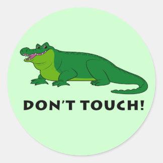 Alligator Don't Touch Round Sticker