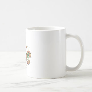 Alligator Fleur De Lis Basic White Mug