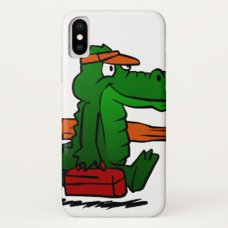 Alligator going to the beach iPhone x case