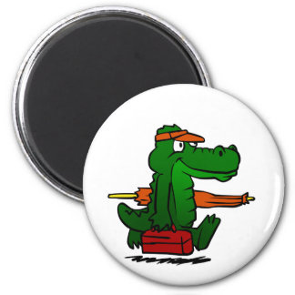 Alligator going to the beach magnet