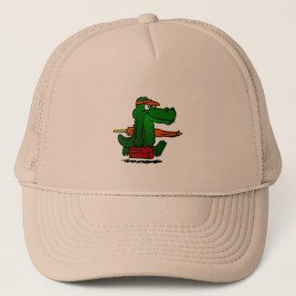 Alligator going to the beach trucker hat