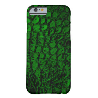 Alligator Green Faux Leather Barely There iPhone 6 Case