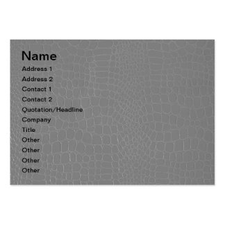Alligator Grey Reptile Print Business Card Template