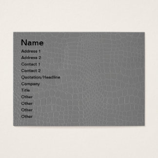 Alligator Grey Reptile  Print Business Card