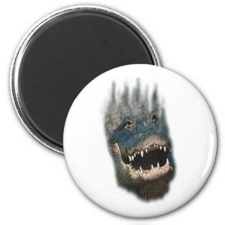 Alligator Head Shot-Huge reptiles 6 Cm Round Magnet