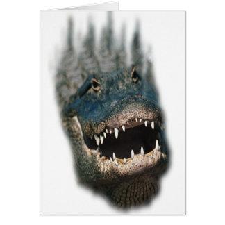 Alligator Head Shot-Huge reptiles Greeting Card
