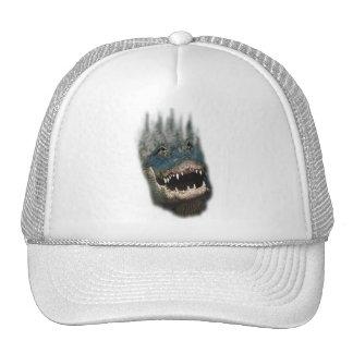 Alligator Head Shot-Huge reptiles Mesh Hats