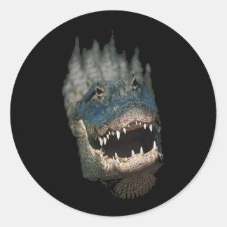 Alligator Head Shot-Huge reptiles Round Sticker