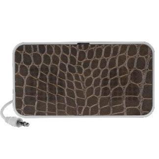 Alligator Leather Print Portable Speakers