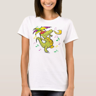 Alligator Mardi Gras women's Tee