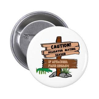 Alligator Mating Season Button
