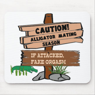 Alligator Mating Season Mouse Pad