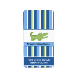 Alligator Miniature Candy Wrappers - Blue/Green Address Label