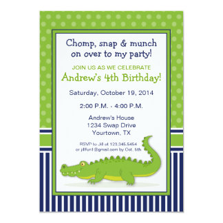 Alligator Party Invitation