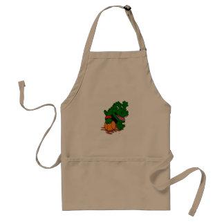 Alligator playing basketball standard apron
