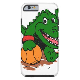 Alligator playing basketball tough iPhone 6 case