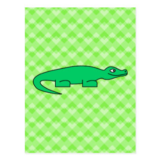 Alligator. Postcard