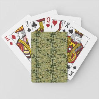 Alligator Print Playing Cards