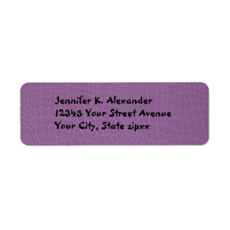 Alligator Purple Return Address Label