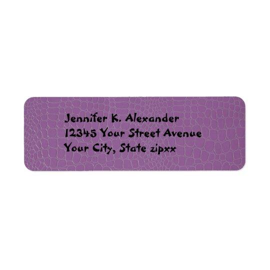 Alligator Purple Return Address Label