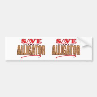 Alligator Save Bumper Sticker